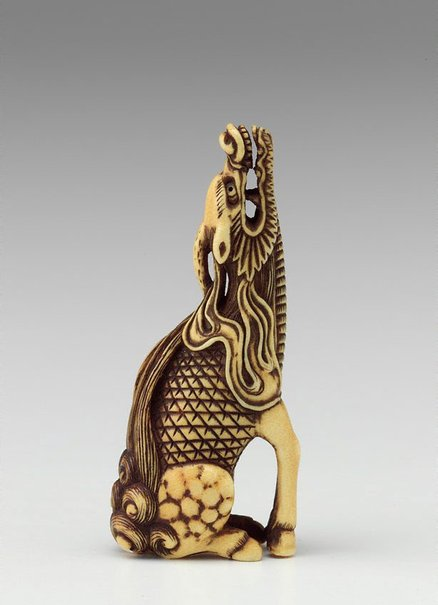 An image of Netsuke in the form of a Kirin by