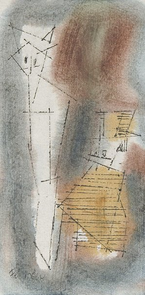 "An image of (Two ""Ghosties"") by Lyonel Feininger"