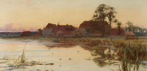 An image of The Thames near Great Marlow by Charles Wilkinson