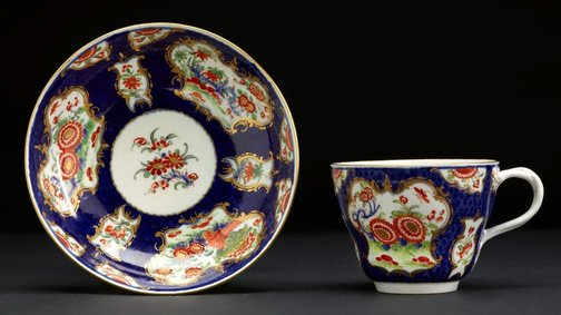 An image of Cup and saucer by Worcester